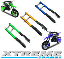 MINI DIRT BIKE COMPLETE FRONT FORKS SHOCKERS DAMPER WITH YOKES SHOCK SPARE PART