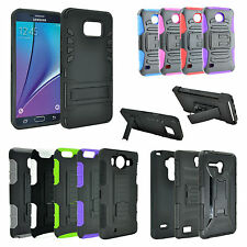 For ZTE Warp Elite N9518 Rugged Hybrid Hard Phone Case Belt Clip Swivel Holster