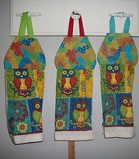 Owls Flowers Floral Retro Hanging Kitchen Oven Cabinet Fridge Dishtowel HCF&D