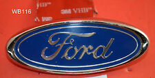 "Factory Genuine Stock Ford Mustang 3.5"" oval emblem   logo trunk  W/ADHESIVE 3M"
