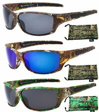 Hornz Polarized Camouflage Sunglasses Forrest Camo Sport Full Frame HZ98005-08