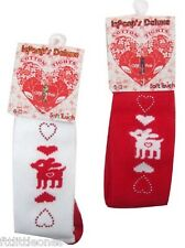 LITTLE BABY GIRLS CHRISTMAS COTTON TIGHTS, REINDEER TWINKLE HEARTS, 0-12 MONTHS