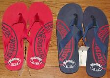 NEW NWT Mens Brooks Brothers Logo Flip Flops Red or Blue M (9-10) or L(11-12)