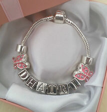 PERSONALISED NAME GIRLS BRACELET XMAS BIRTHDAY PARTY PRESENT GIFT