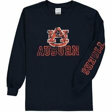 New Agenda Auburn Tigers Youth Navy Hollow Straight Tryout Long Sleeve T-Shirt
