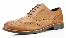 Red Tape Bradshaw Red Brown Lace Up Brogues Mens Leather Formal Smart Shoes