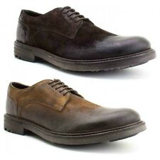 Base London NITROGEN Mens Casual Smart Comfy Greasy Suede Lace Up Derby Shoes