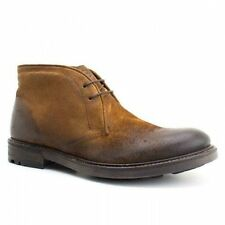 Base London CARBON Mens Comfy Leather Desert Lace Chukka Boots Greasy Suede Tan
