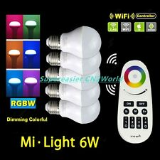 Mi Light Series Dimmable Light 6W E27 RGBW LED Bulb + 4-Zone RF Remote Control