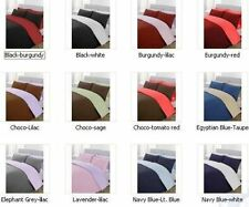 New 1000TC Reversible 5pc's Duvet set Egyptian Cotton All Size & 40 Colors