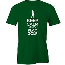 Keep Calm And Play Golf T-Shirt Tee New