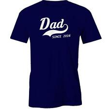 Dad Since 2016 T-Shirt Fathers Day Gift Idea Present Daddy Tee New