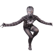Boys Evil Black Spiderman Costume Kids Halloween Child Superhero Cosplay Zentai