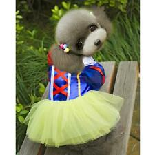 Pet Dog Snow White Disney Halloween Dress Costume Outfit Princess Clothes XS--XL