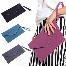 Ladies Faux Leather Envelope Evening Clutch Bag Women Ladies Handbag Purse