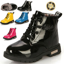 Hot Baby Girls Boys Childrens Kids Winter Casual Flat Pumps Boots Shoe Size 5-13