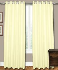 "Ivory Faux Silk Curtains, 51""(130 cm) Wide - Choice of Plain Top, Length, Lining"