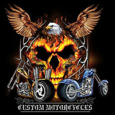 Custom Motorcycles Eagle Spirit Skull Choppers Biker T-Shirt Tee
