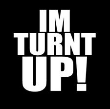 I'm Turnt Up I Came To Party White Ink Design Funny T-Shirt Tee