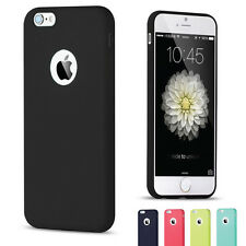 For iPhone Samsung Galaxy Pastel Slim Matte Soft Silicone Phone Case Cover