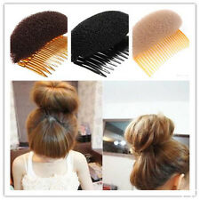 Hair Styler Volume Bouffant Beehive Shaper Bumpits Foam On Clear Comb Girls Gift