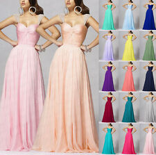 Floor Length Cap Sleeve Formal Evening Gowns dress Bridesmaid Dresses Size 6++18