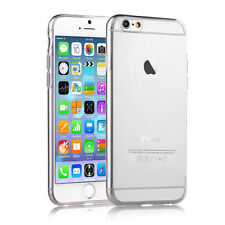 CRYSTAL CLEAR GEL CASE TPU COVER FOR VARIOUS IPHONE MODELS + SCREEN PROTECTOR