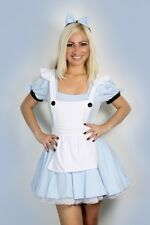 Sexy Halloween Womens Alice in Wonderland Fancy Dress Costume outfit 8-18