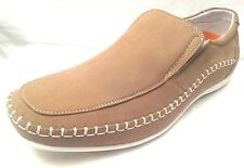"DELLI  ALDO - Men SIZE 7 & 7.5  Premium ""BEIGE"" Leather Lined Loafers Soft Comfy"