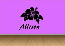 Personalised Any Name Fllower Kids Vinyl Wall Art Sticker Decal