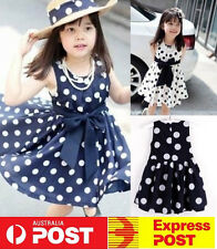 NEW Cute Baby Toddlers Kids Polka Dots Tutu Dress Sleeveless Sundress Clothes