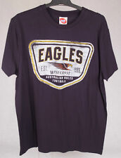 Official AFL West Coast Eagles Mens Supporter Tee Size M