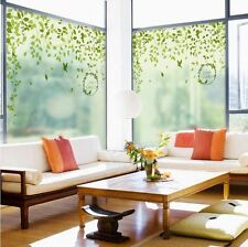 Lovely Leave Frosted Window Film Privacy Bedroom Bathroom Office Glass Decor STG