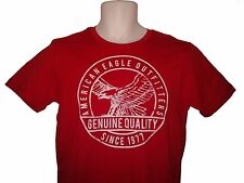 NWT AMERICAN EAGLE OUTFITTERS MENS SIGNATURE GRAPHIC T SHIRT NEW AEO RED TEE