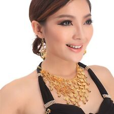 Belly Dance Golden/Silver Necklace+Earring Jewelry Choker for Dancing