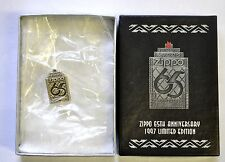 Zippo Lighter 65th Anniversary Pewter Tie Tac / Lapel Pin New in Box old stock