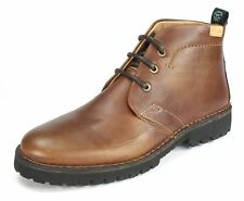Wrangler Grinder Desert Leather Lace Up Ankle Boots Brown