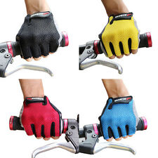 Sports Cycling Bicycle Gloves Half Finger Red Black Yellow Blue Mesh For Bike