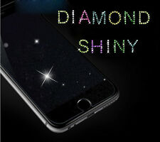 Diamond Glitter Shiny Tempered Glass Screen Protector Film For Apple iPhone Lot