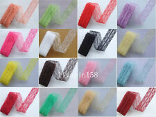 Wholesale! 10 Yard Beautiful Handicrafts Embroidered Net Lace Trim Ribbon