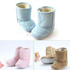Baby Infant Child Boys Girls Warm Snow Boots Fur Winter Toddler Crib Shoes 0-18M