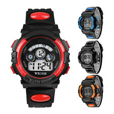 Waterproof Mens Digital LED Alarm Date Sports Wrist Watch Student Gift