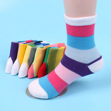 2Pairs Hot Sell Cotton Socks Children Boys Girls Striped Candy Color Hosiery