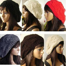 Women Lady Winter Warm Knitted Crochet Slouch Baggy Beret Beanie Hat Ski Cap Hot