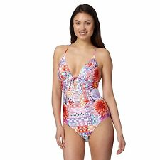 Butterfly By Matthew Williamson Womens Designer White Tropical Floral Swimsuit
