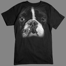 Boston Terrier Big In Your Face Design Animal T-Shirt Tee
