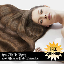 Full Head 8pcs Clip In Hair Extensions 100% Remy Human Hair Extensions