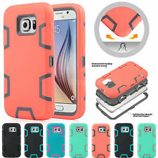 Slim Hybrid Rubber Shockproof Heavy Duty Hard Case Cover for Samsung Galaxy S6