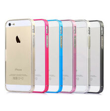 Clip-on Ultrathin Aluminum Metal Bumper Frame Cover Case For Apple iPhone 5 5S