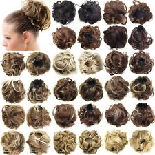 Wave Curly Drawstring Clip Hair Bun Hairpiece Pony Tail Extension Scrunchie Q6